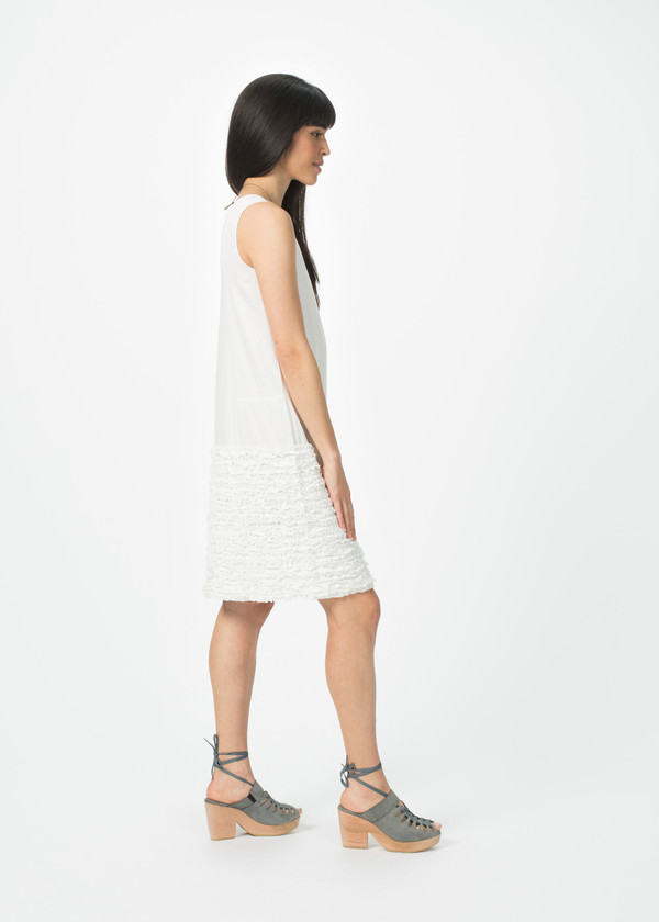 Dosa Simple Ruffle Dress