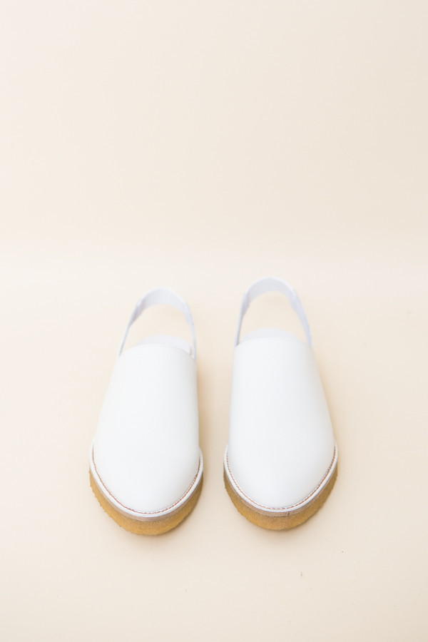 Miista Elie Slingback / White Leather