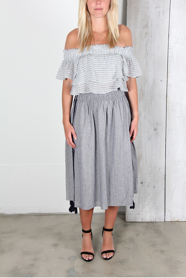 APIECE APART ASSISI TEA LENGTH WABI SKIRT