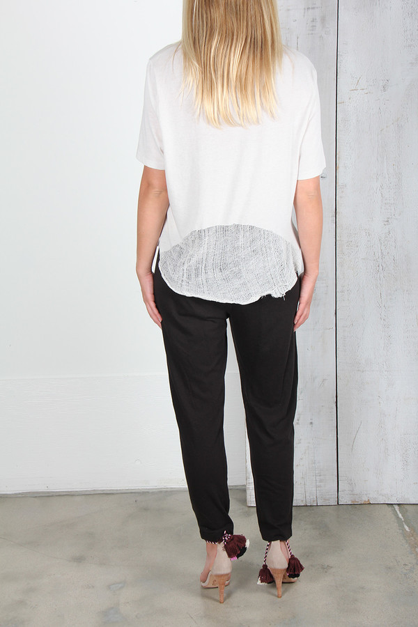 RAQUEL ALLEGRA BOXY T WITH SHRED