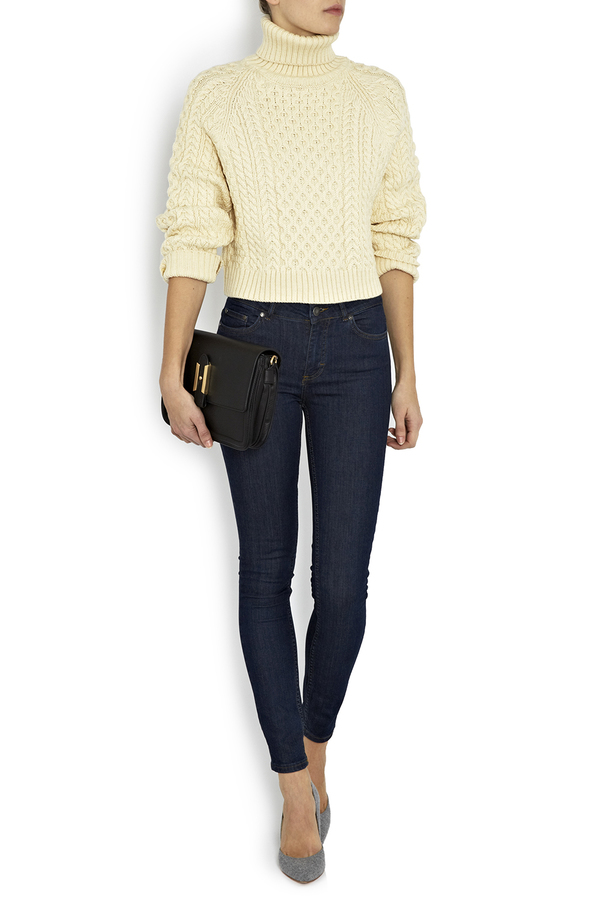 Apiece Apart Carrine Cropped Rollneck Sweater