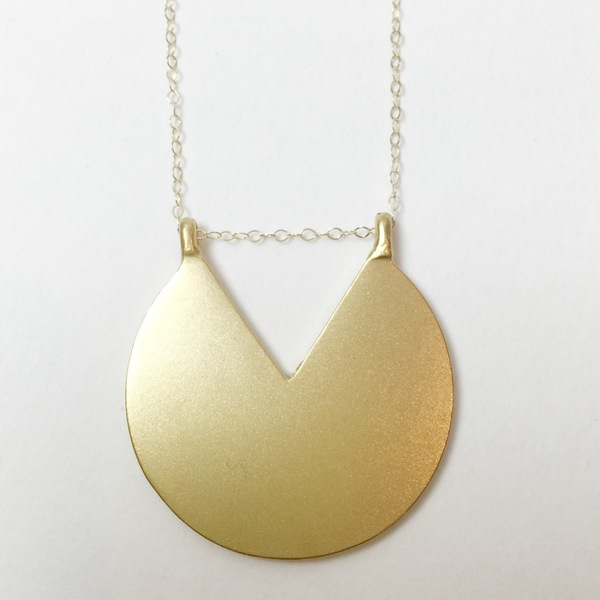 "Baleen Subtracted ""V"" Necklace"