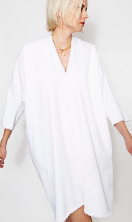 Miranda Bennett Muse Dress in White Denim