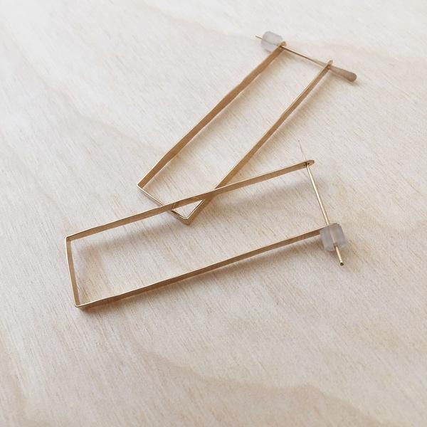 Aoko Su.  Bauhaus Earrings Gold Fill