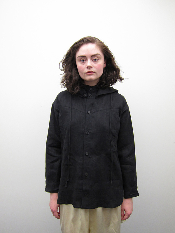 Unisex 69 Hiking Shirt, Black Linen