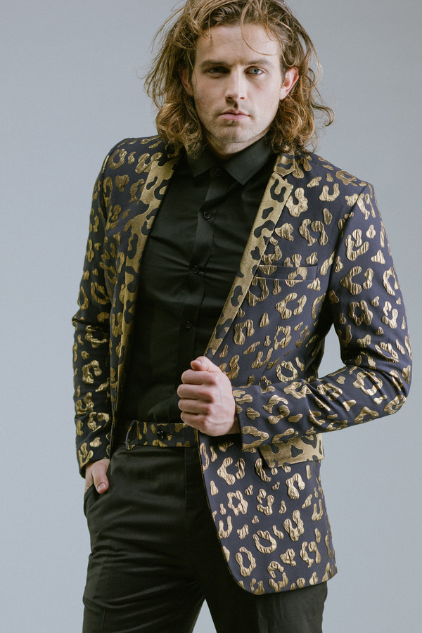 Men's Any Old Iron Gold Leopard Suit