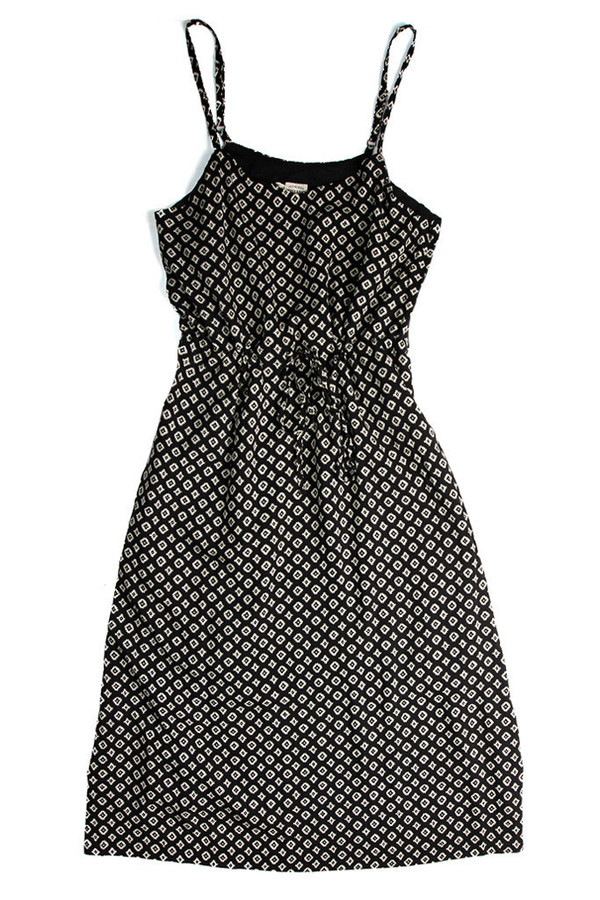 Bridge & Burn Sage Black Geometric Print Dress