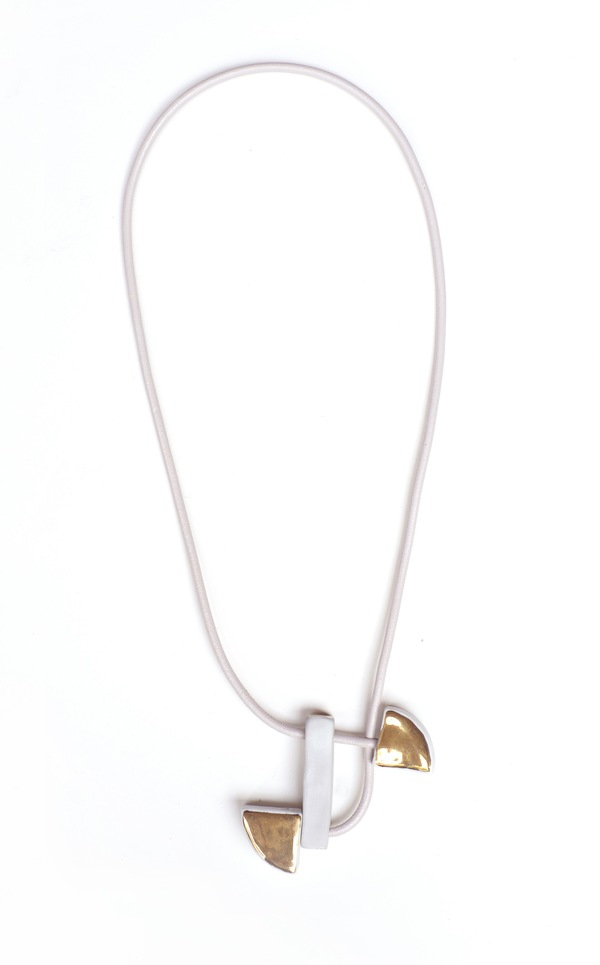 Jujumade draped gold slice necklace