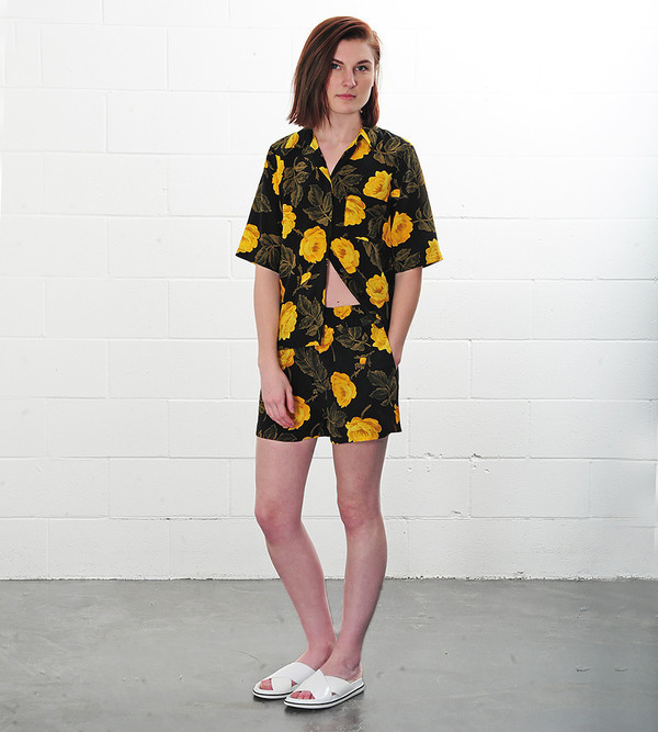 Ganni Fusion Rose Lee Silk Shirt