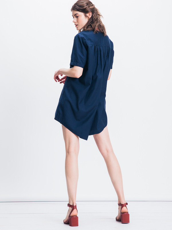 Ali Golden BUTTON DOWN SHIRT DRESS