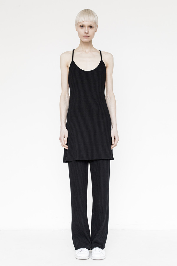 Assembly Cotton Ribbed Camisole - Black