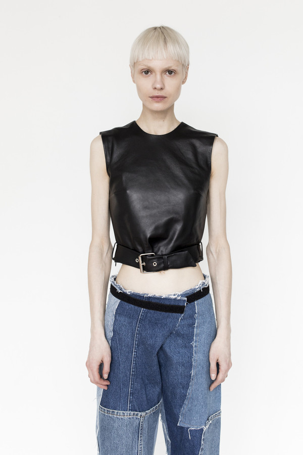 Markoo Leather Shell Top