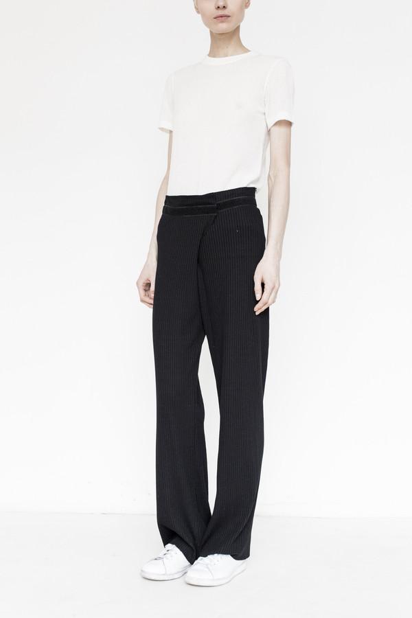 Assembly Rib Knit Simple Pant - Black