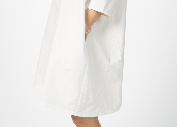 Organic by John Patrick Broadcloth Slim Sleeve Dress