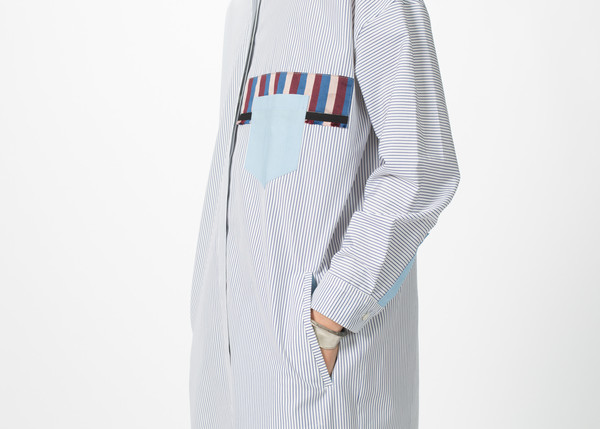 Odeeh Shirtdress with Stripe Trim