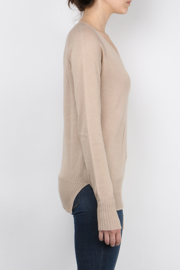 Ma'ry'ya Cotton Cashmere V-Neck