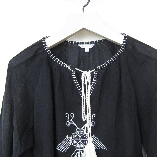 Star Mela Lipi embroidered top - black/ecru