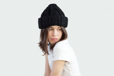 Clyde Arp Knit Hat in Black Reflector