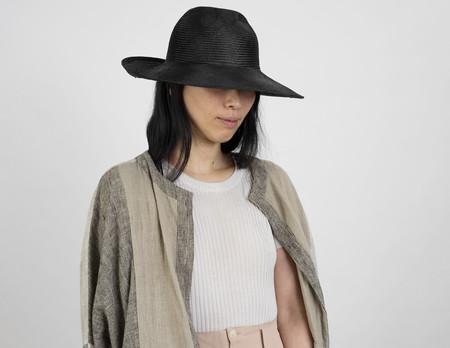 Clyde Inertia Hat in Black Straw