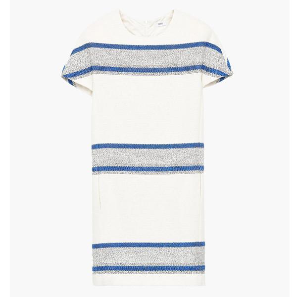 closed striped dress