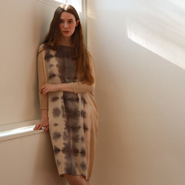 ines hand-dyed dress