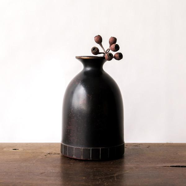 japanese cast bronze vase
