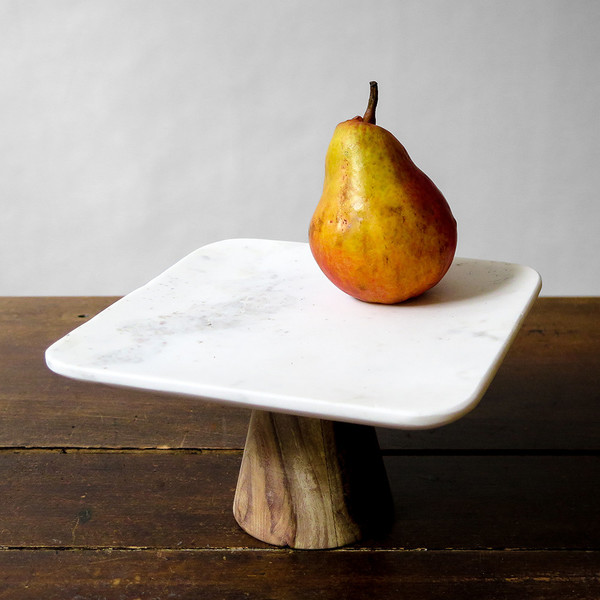 Roost marble pedestal