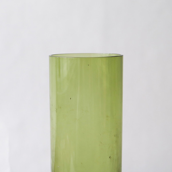 mid-century glass vase