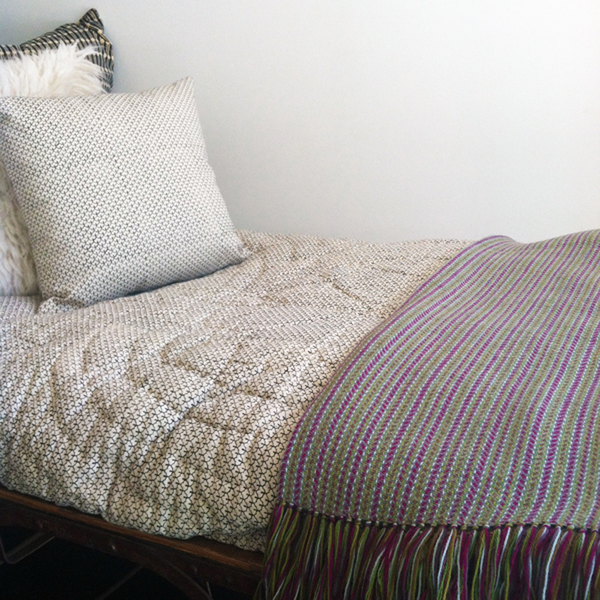 Erica Tanov variegated alpaca throw