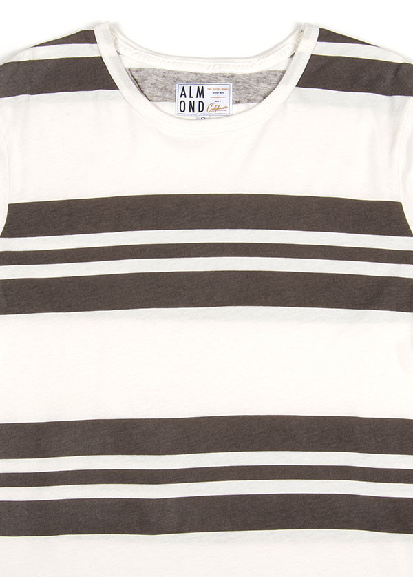 MEN'S ALMOND SURFBOARDS & DESIGN - PANEL STRIPE KNIT