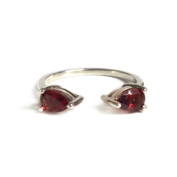 Tarin Thomas Madison Silver and Garnet Ring