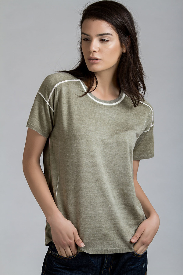 Paychi Guh Square Tee Olive