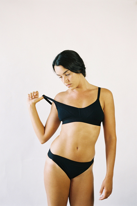 The Nude Label Sporty Bra- Black
