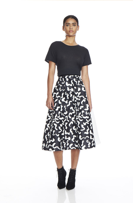 EDIT Two Tone Midi Skirt