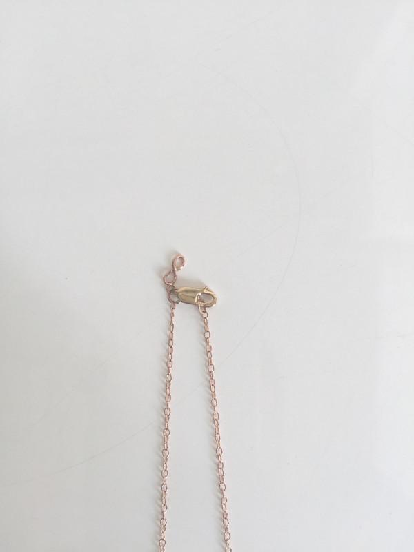 Tichel Jewels Upside Down Traingle Diamond Necklace
