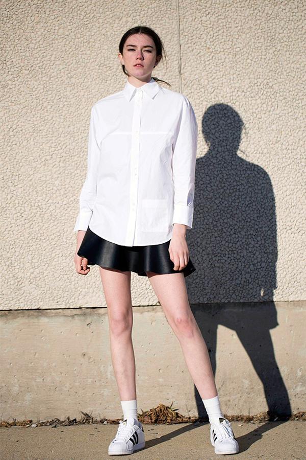 Lookast White Cotton Shirt