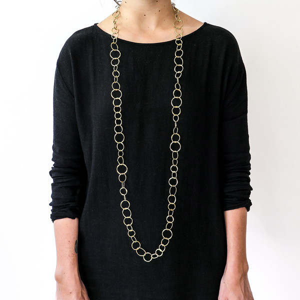 Roost brass chain necklace