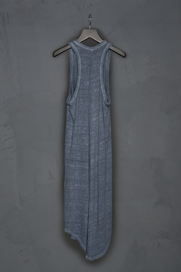 Racer Back Linen Tank Dress