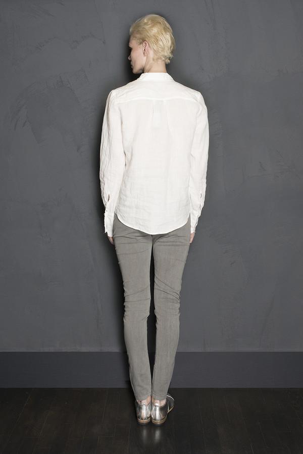Raw Edge Linen Button Up