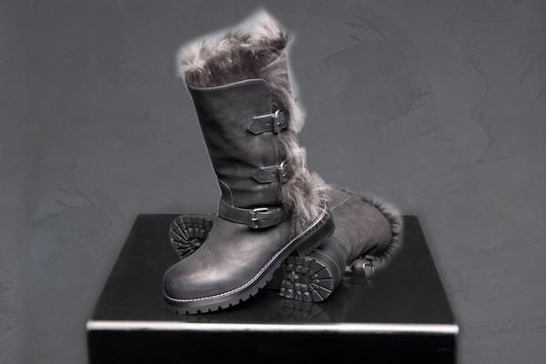 Sartore Buckled Fur Boot Fox