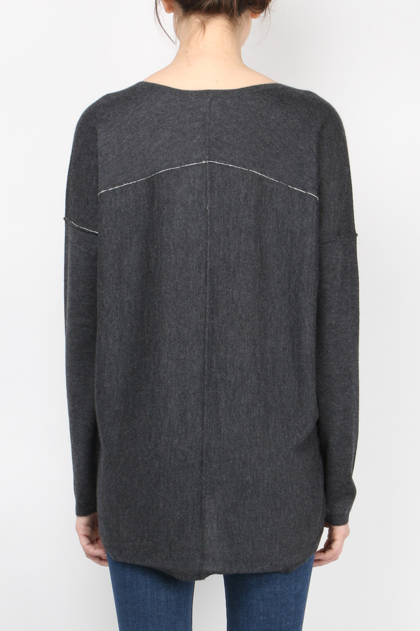 Long Sleeve Boxy Tee Sweater