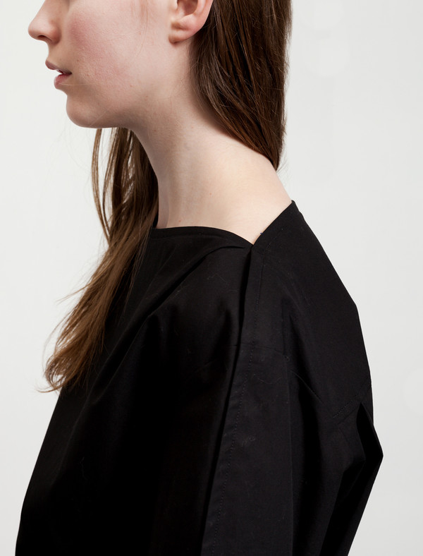 Lemaire Large Sleeve Blouse Black