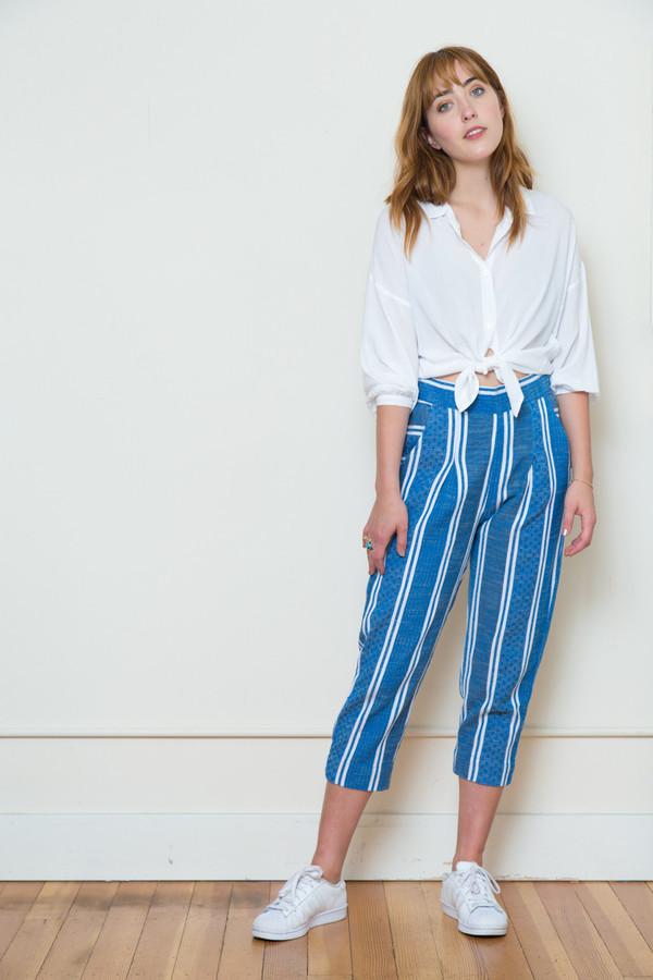 ace & jig atlantic pant in blue jean