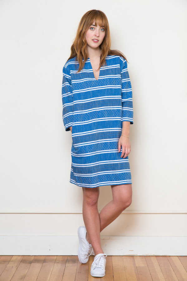 ace & jig deck dress in blue jean
