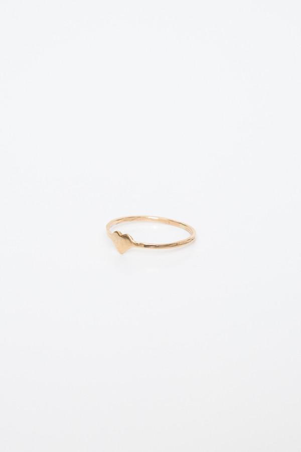 fiat lux 14k heart ring