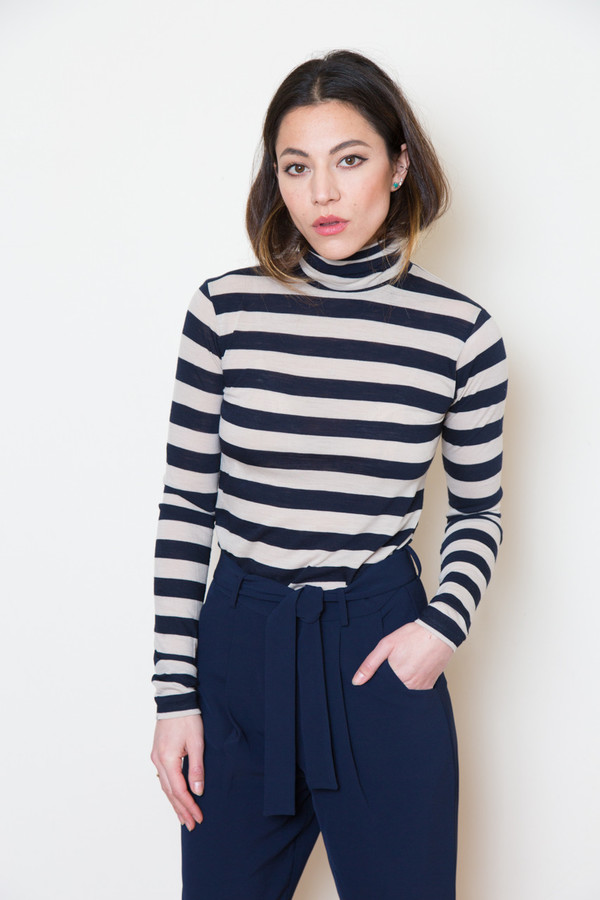 just female striped turtleneck
