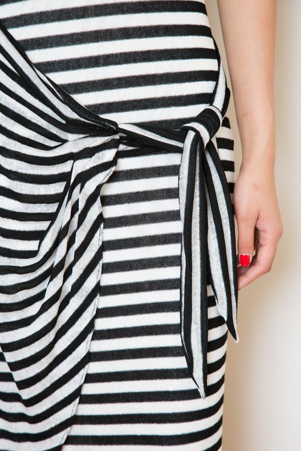 mara hoffman linen knit gathered dress