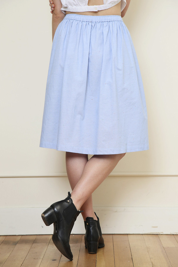 Renamed Speckled Button-down Skirt