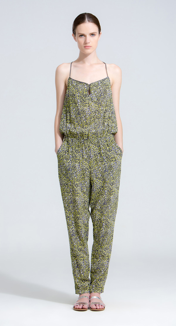 The Korner Multi-Colored Spotted Jumpsuit