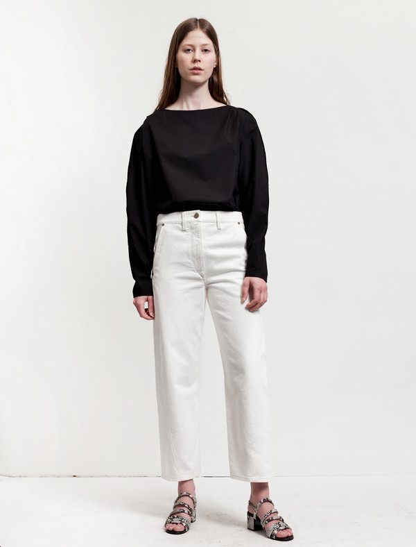 Lemaire Twisted Pants Off White